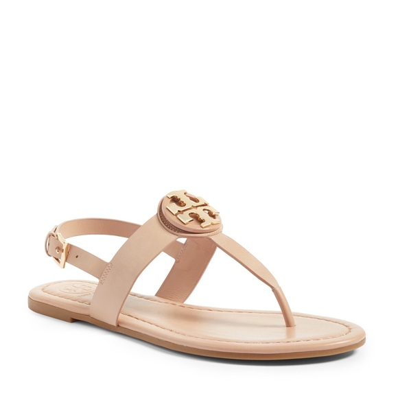 """41c4e9a054bfb 🆕Tory Burch """"Bryce"""" Thong Sandal in Makeup Color"""